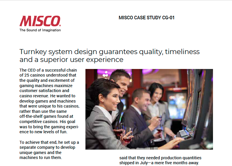 MISCO Casino Gaming Case Study